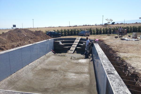plastering liner pool