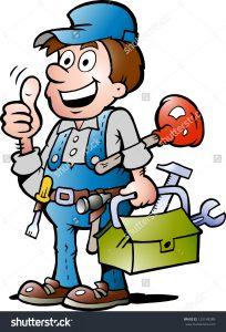 stock-vector-hand-drawn-vector-illustration-of-an-happy-plumber-handyman-giving-thumb-up-125148389